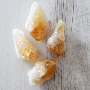 Citrine Point - Vintage Rose Handmade Jewellery