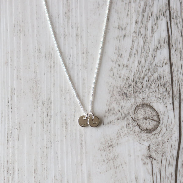 Custom Initial Necklace - Vintage Rose Handmade Jewellery