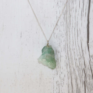 Green Fluorite Necklace - Vintage Rose Handmade Jewellery