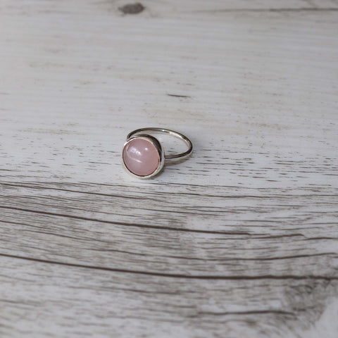 Rose Quartz ring - Vintage Rose Handmade Jewellery