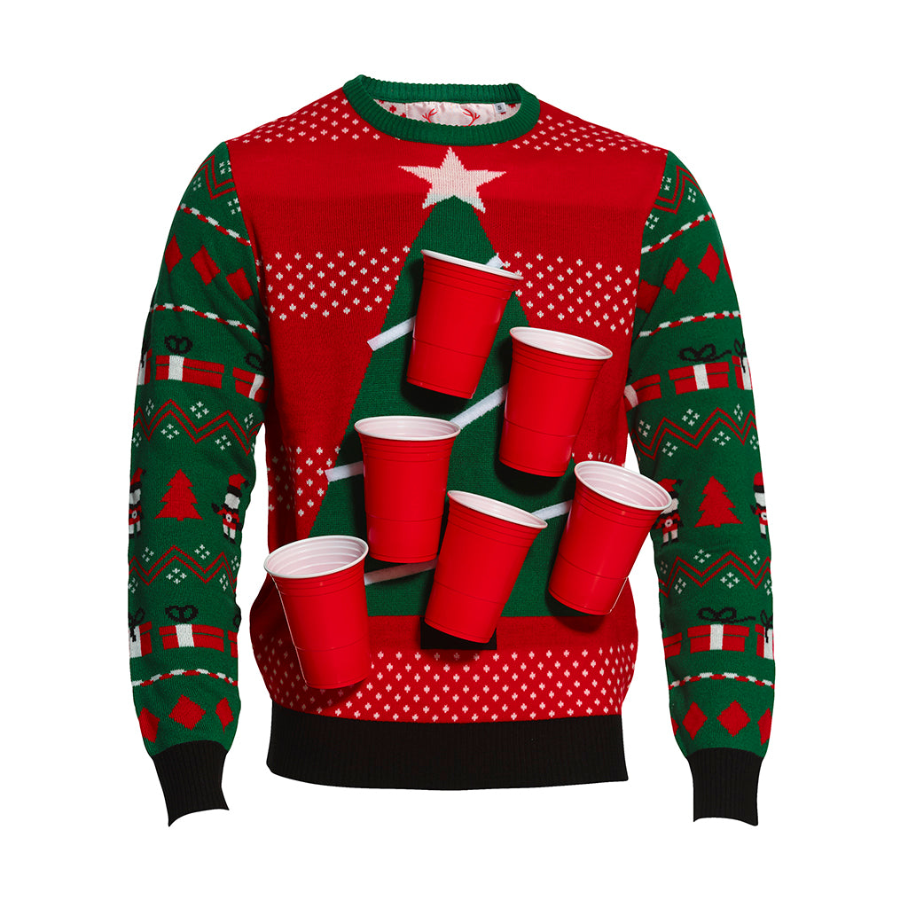 Maglione natalizio Beer Pong