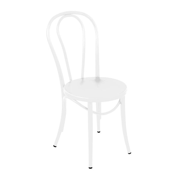 Belmont White Steel Side Chair (Set of 2)