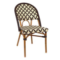 Les Ulis Aluminum Bamboo Stackable Bistro Chair