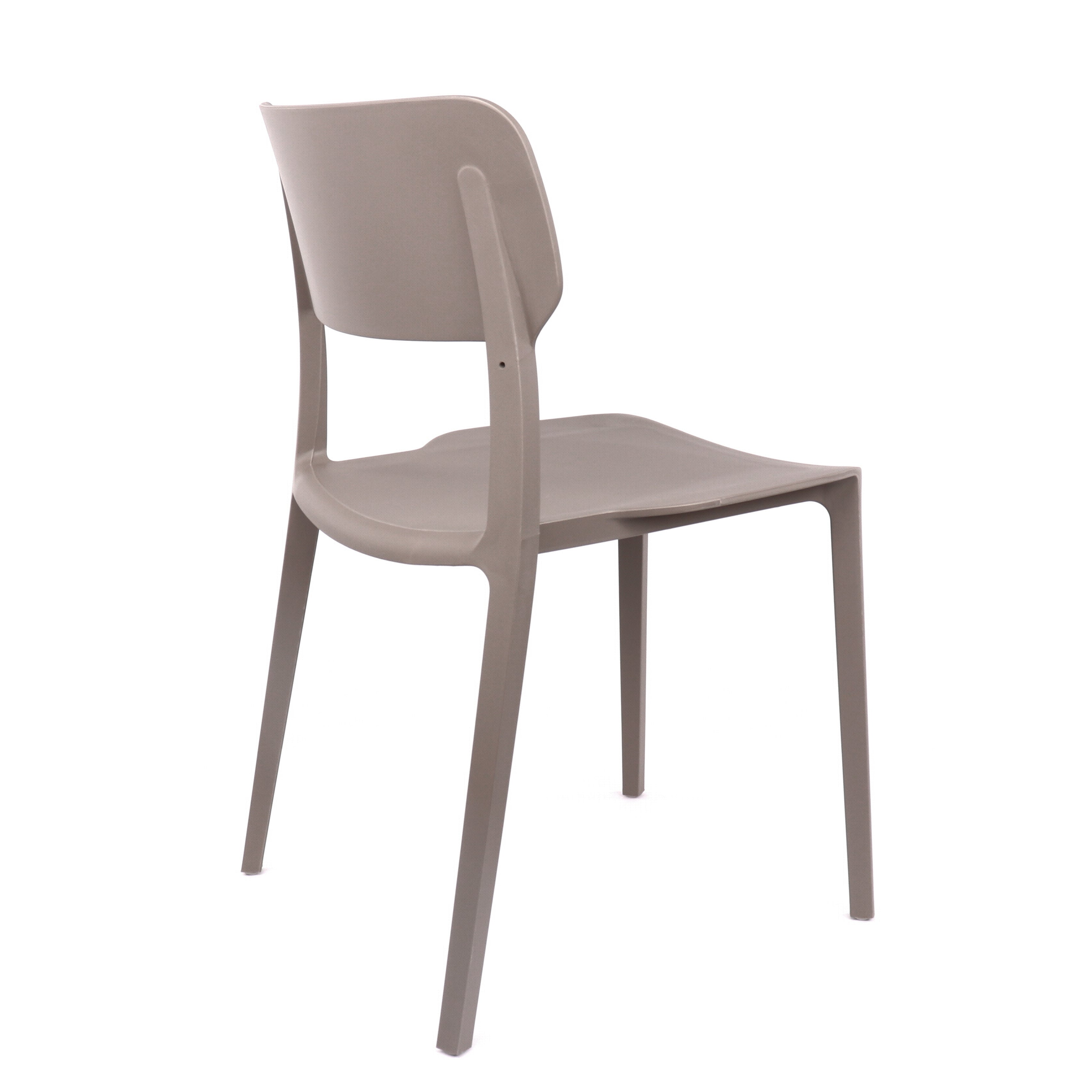 Viro Mild Grey Modern Stackable Side Chair Set Of 4 The