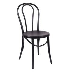 Belmont Matte Black Steel Side Chair (Set of 2)