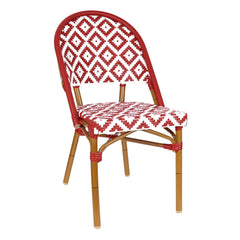 de La Paix Aluminum Bamboo Stackable Bistro Chair