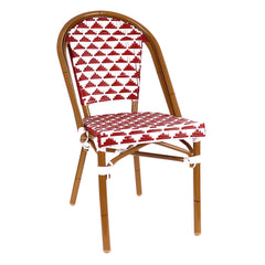 Versailles Aluminum Bamboo Stackable Bistro Chair