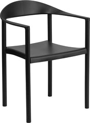 HERCULES Series 1000 lb. Capacity Black Plastic Cafe Stack Chair