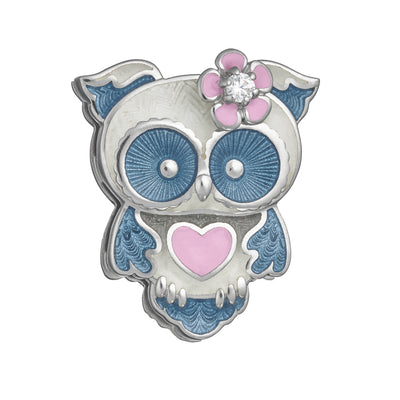"Enamel pin ""Loving owl"" - Namfleg Jewelry"