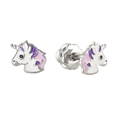 "Silver earrings ""Silver Unicorn"" - Namfleg Jewelry"