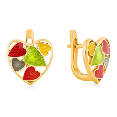 "Silver earrings ""Fruity Heart"" - Namfleg Jewelry"