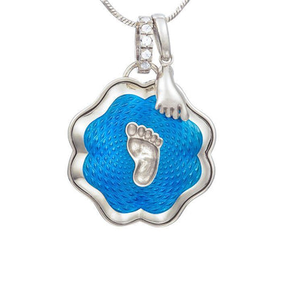 "Silver pendant and charm ""Baby steps. Mommy's boy"" - Namfleg Jewelry"
