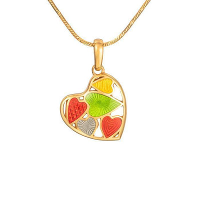 "Silver mini pendant ""Fruity Heart"" - Namfleg Jewelry"