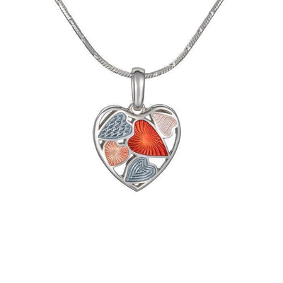 "Silver mini pendant ""Shadow Heart"" - Namfleg Jewelry"