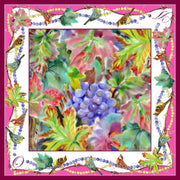 "Namfleg Scarf Silk scarf ""Vineyards in September"" 90x90 cm"