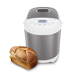 Sybo BM8501 Stainless Steel Bread Machine, 2.2 LB 19-in-1 Programmable XL Bread Maker Nonstick Pan & Digital Touch Panel, 3 Loaf Sizes 3 Crust Colors, Reserve & Keep Warm Set