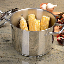 Load image into Gallery viewer, FRESHAIR™ 8 QT. STAINLESS STEEL STOCK POT