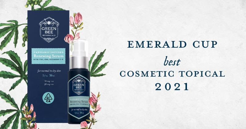 Green Bee Botanicals Best Cannabis topical 2021 Emerald Cup Awards