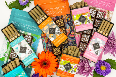 Garden Society cannabis chocolates and prerolls for Mothers Day