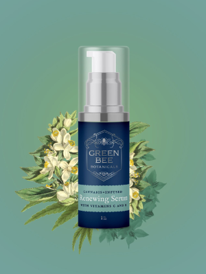 Green Bee Botanicals Renewing Face Serum cannabis skincare