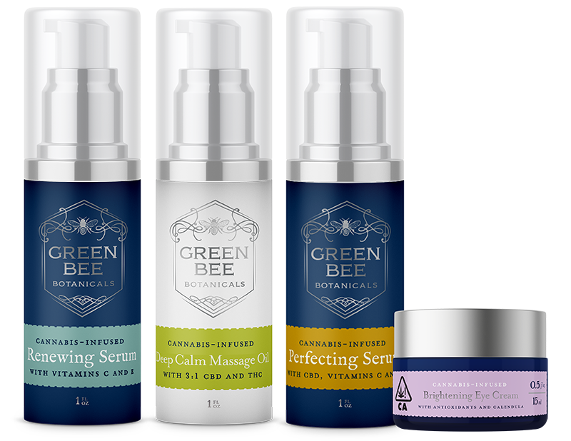 Green Bee Botanicals clean skincare lineup face serums eye cream body oil
