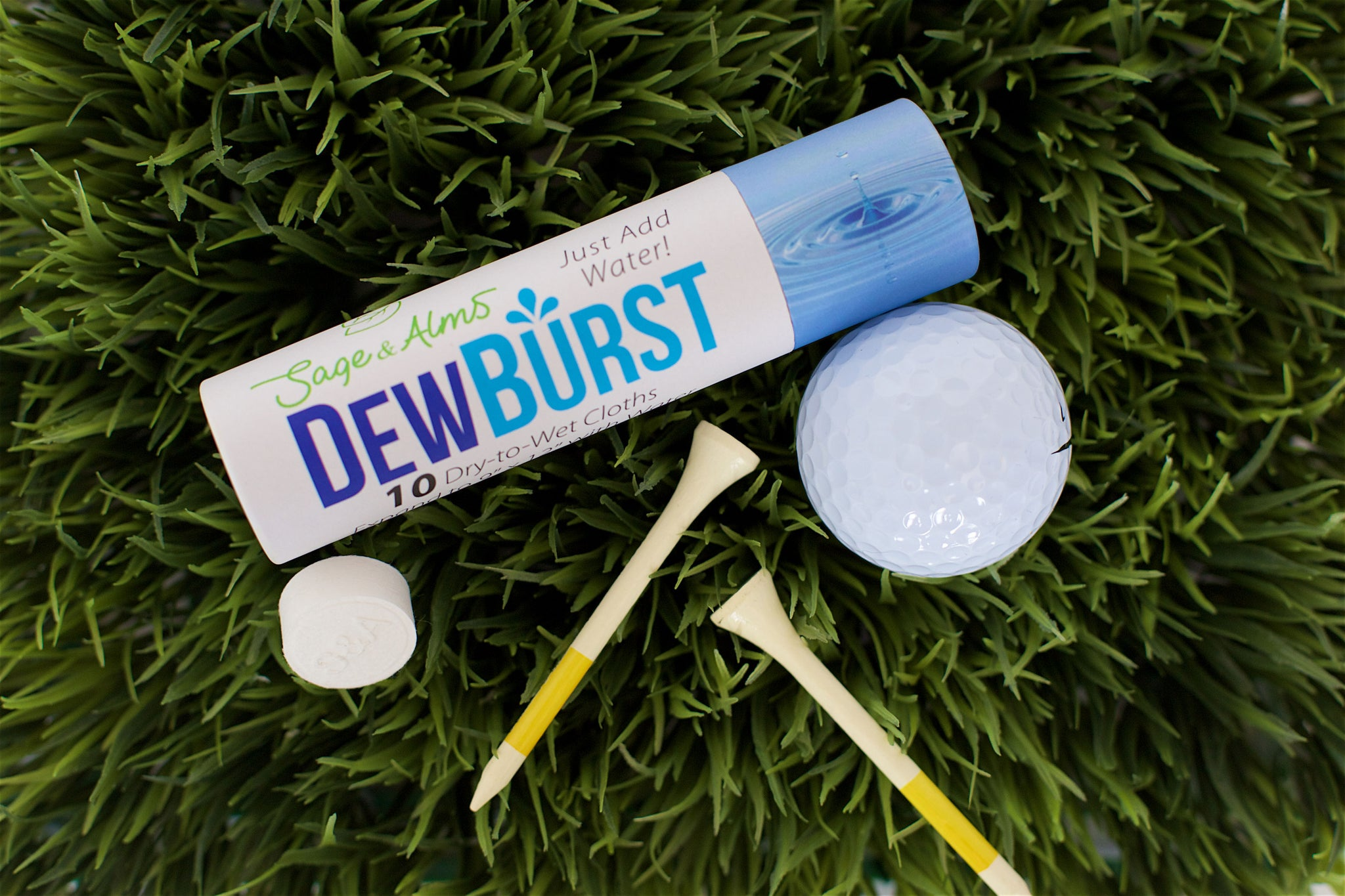 6 Tubes | 60 Cloths | $3.00 Per Tube | DewBurst