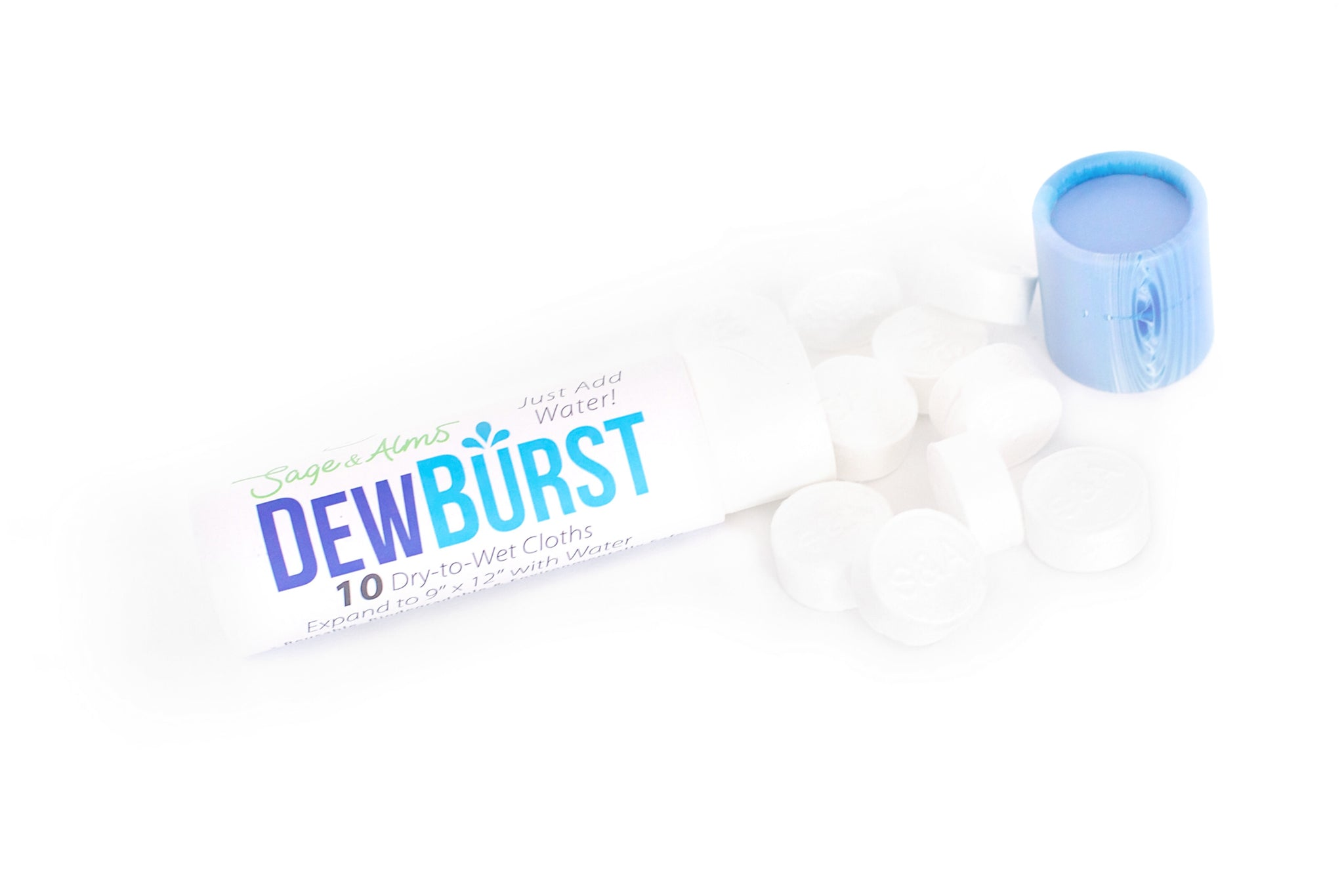 1 Tube | 10 Cloths | $3.99 Per Tube | DewBurst