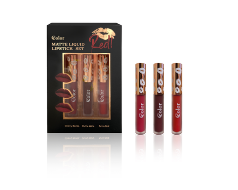 Matte Liquid Lipstick Set (Red)
