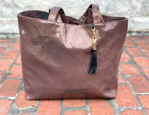 Bourbon Glitter Tote (NATURAL CREASES DUE TO WEATHERING OF FABRIC)