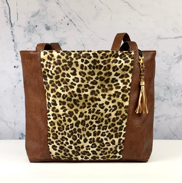 Chocolate Cobra & Savannah Tote
