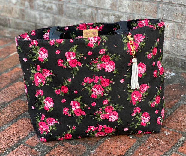 The Rose Floral Tote