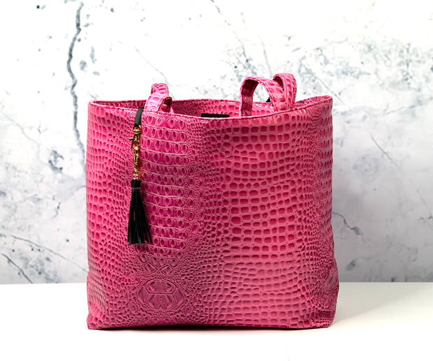 Bubble Gator MJ Pink Tote (Note** 7 Business Day Turnaround)