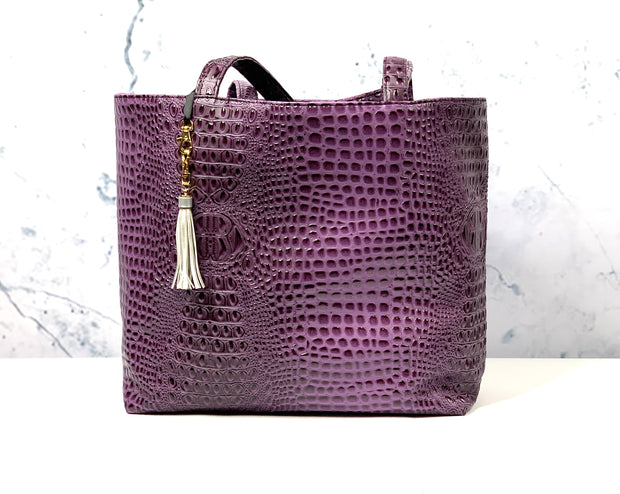 Bubble Gator Amethyst Tote (Note** 7 Business Day Turnaround)