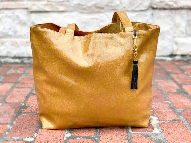 Midas Glitter Tote (NATURAL CREASES DUE TO WEATHERING OF FABRIC)