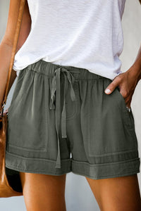 Olive Green Summer Shorts