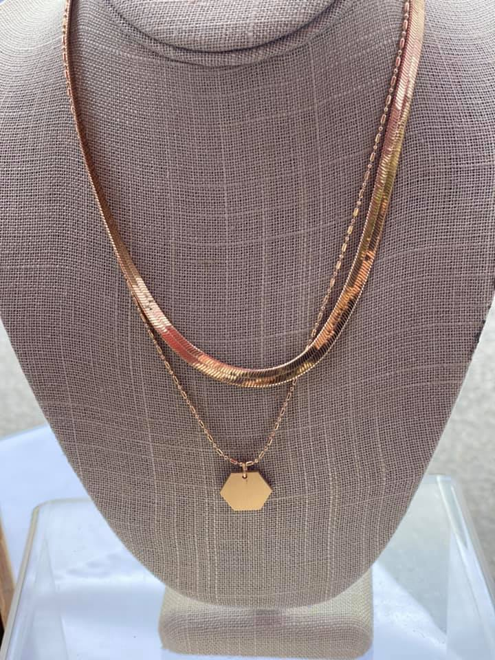 Snake Chain Double Necklace