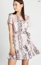 Load image into Gallery viewer, Snakeskin Print Wrap Dress