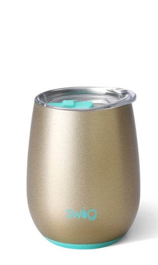 Shimmer Champagne Stemless Wine Cup (14oz)