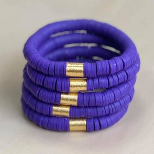 Purple Disc Bracelet