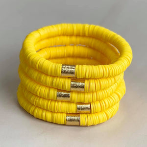 Yellow Disc Bracelet