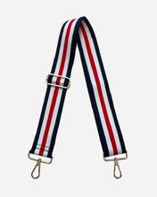 Navy/White/Red Purse Strap