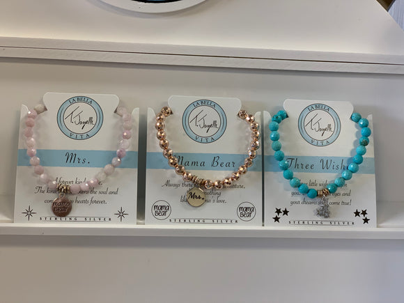 Bracelet Set- Little Beads with Charms
