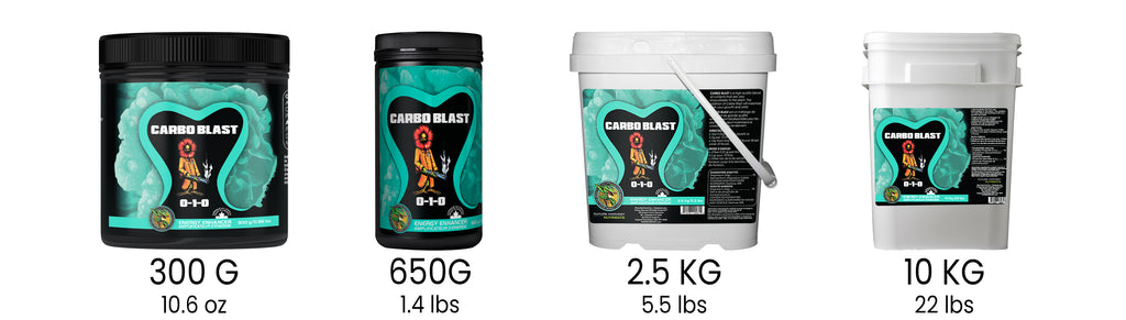 Future Harvest Carbo Blast Available Sizes
