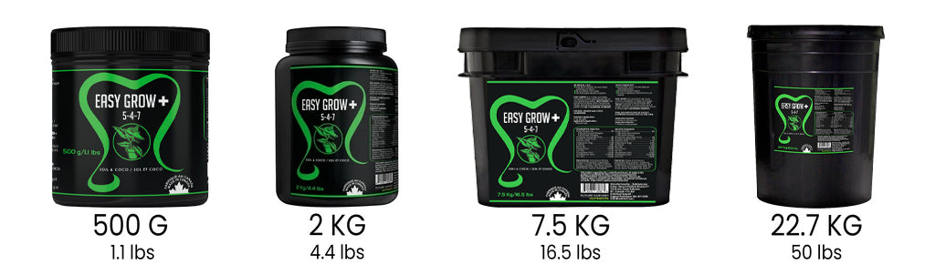 Future Harvest Easy Grow Available Sizes
