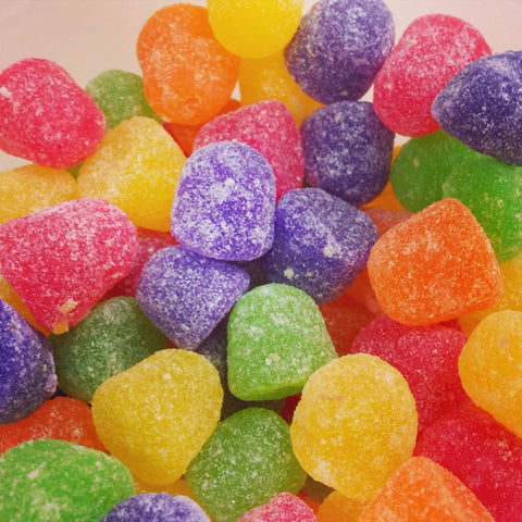 Pile of weed sour candies