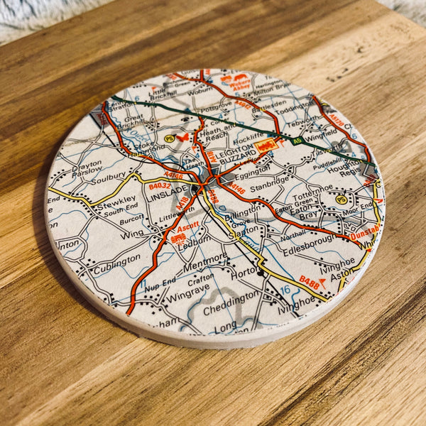 Ceramic Map Coaster