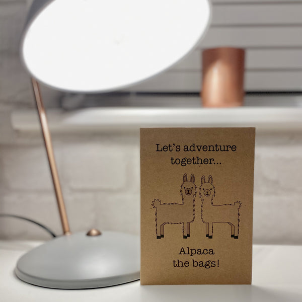 Adventure Alpacas Together Greetings Card