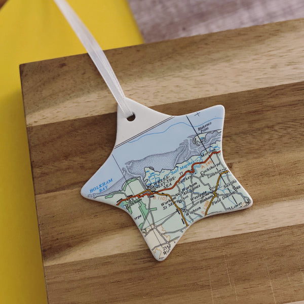 Ceramic Mapwork Decoration - On The Map