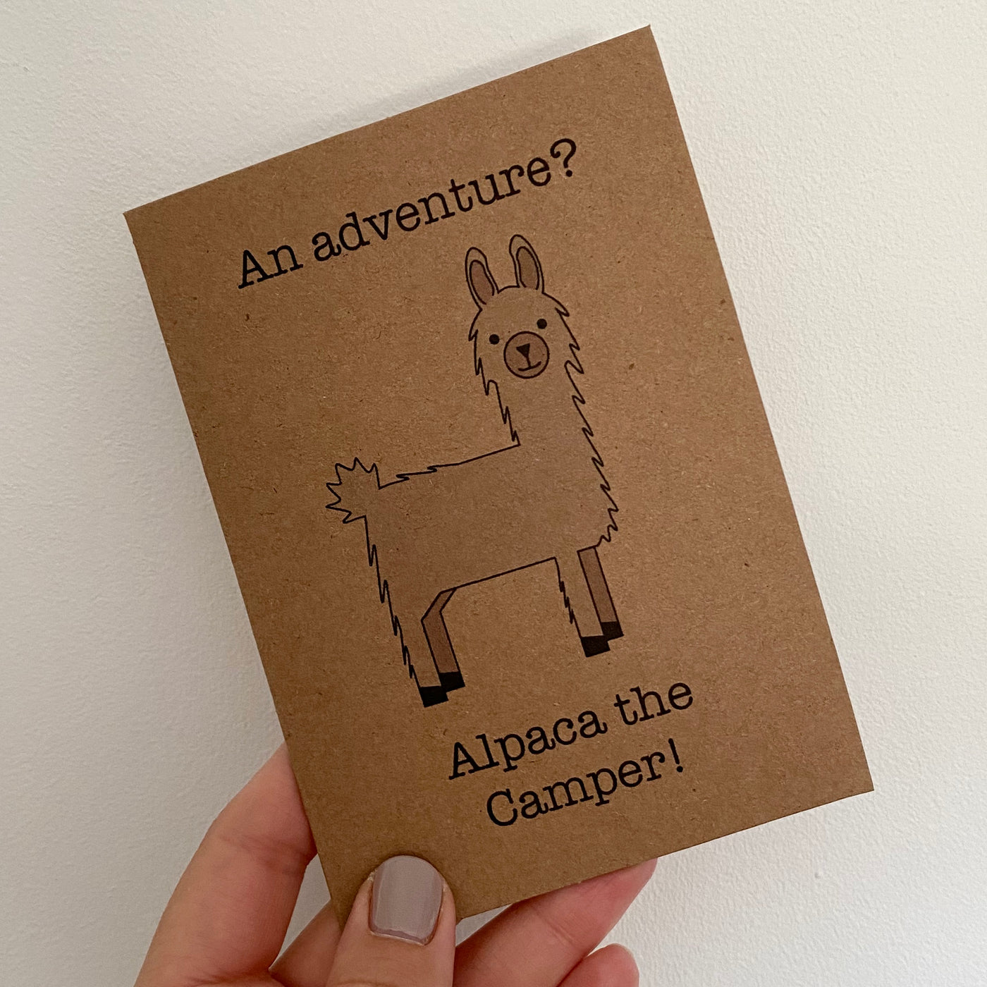 Alpaca the Camper Greetings Card