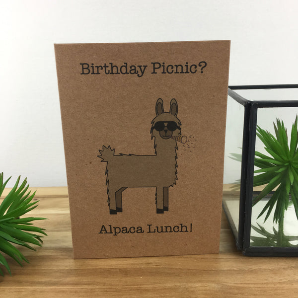 Alpaca Birthday Picnic Card